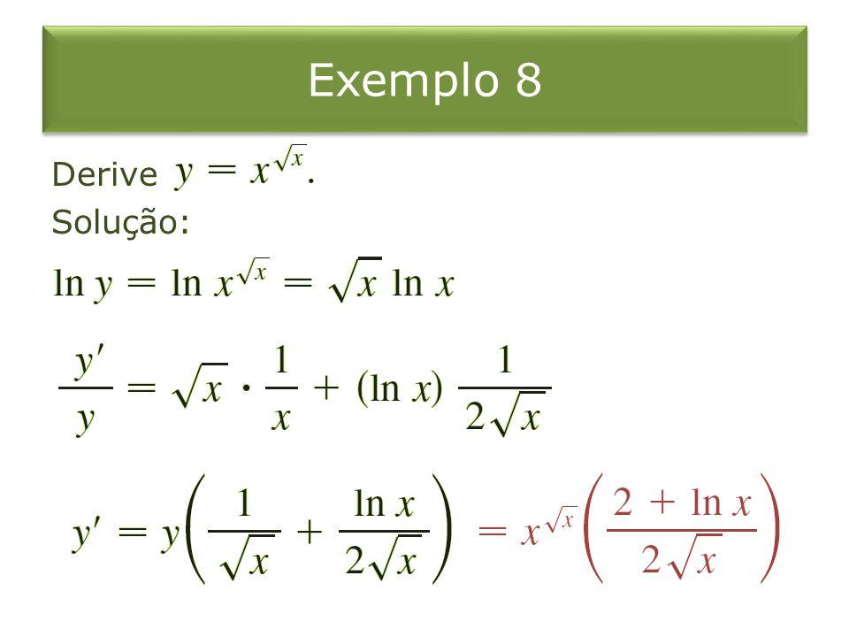 Exemplo 8 Derive Solução: