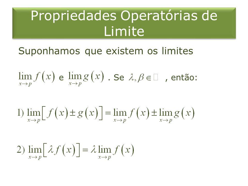 Propriedades Operatórias de Limite