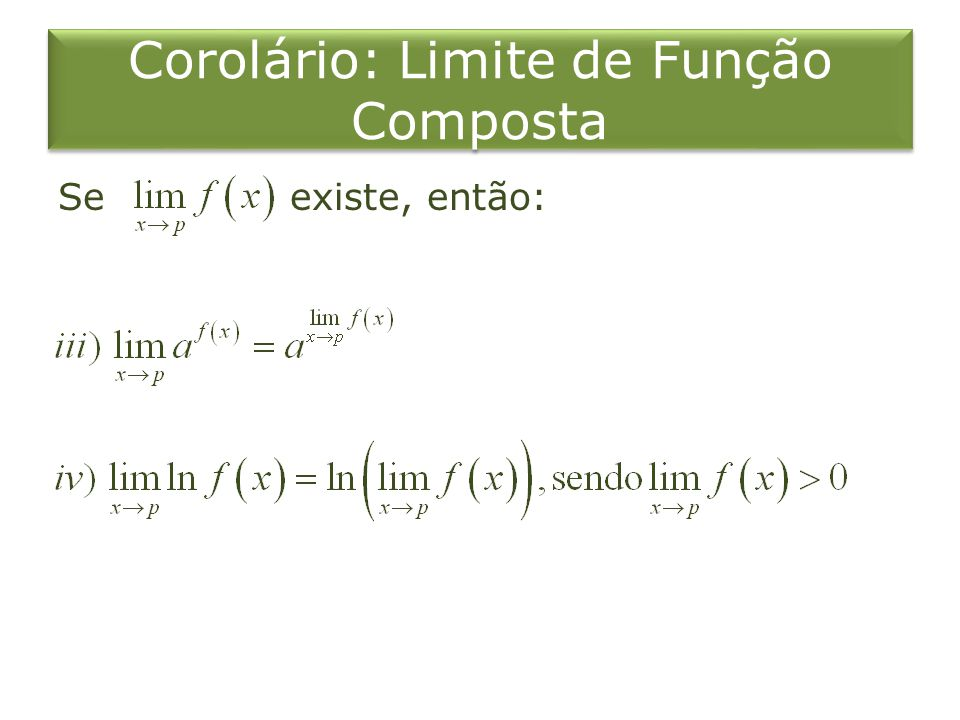 Corolário: Limite de Função Composta