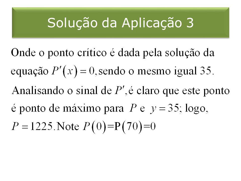 Solução da Aplicação 3