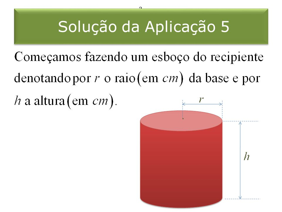 Solução da Aplicação 5