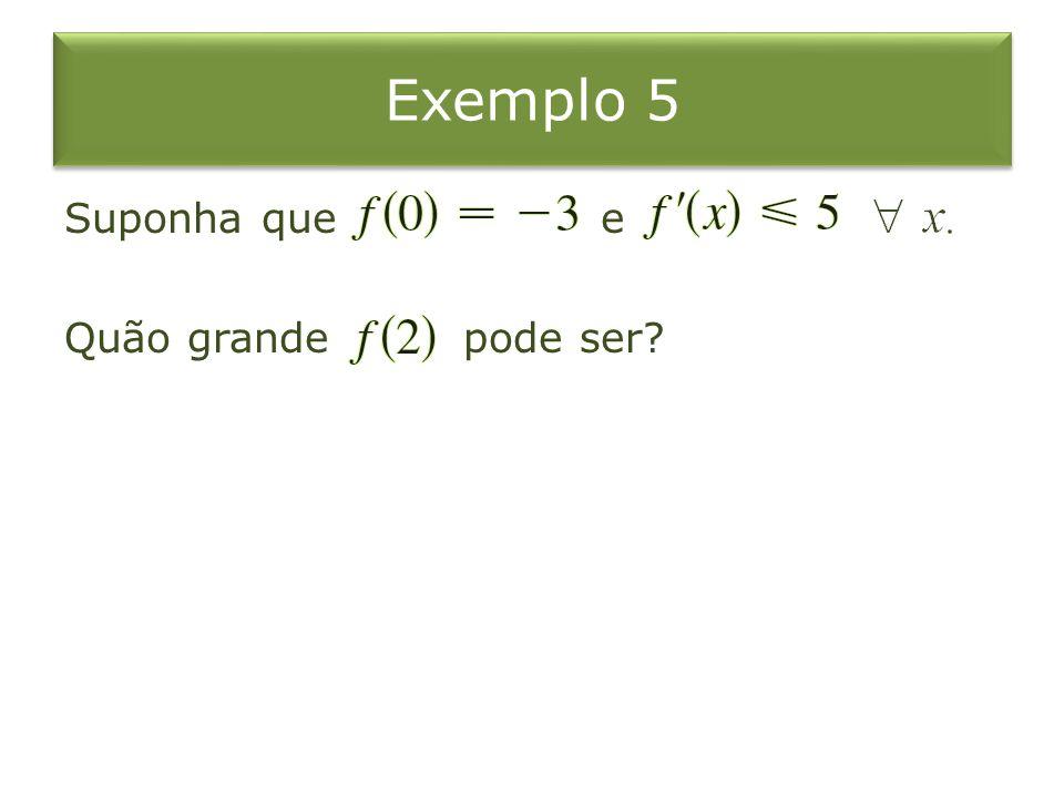 Exemplo 5 Suponha que e Quão grande pode ser