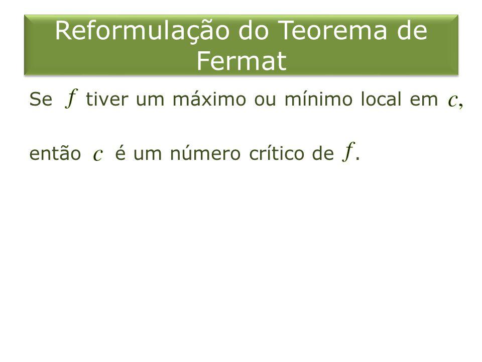 Reformulação do Teorema de Fermat