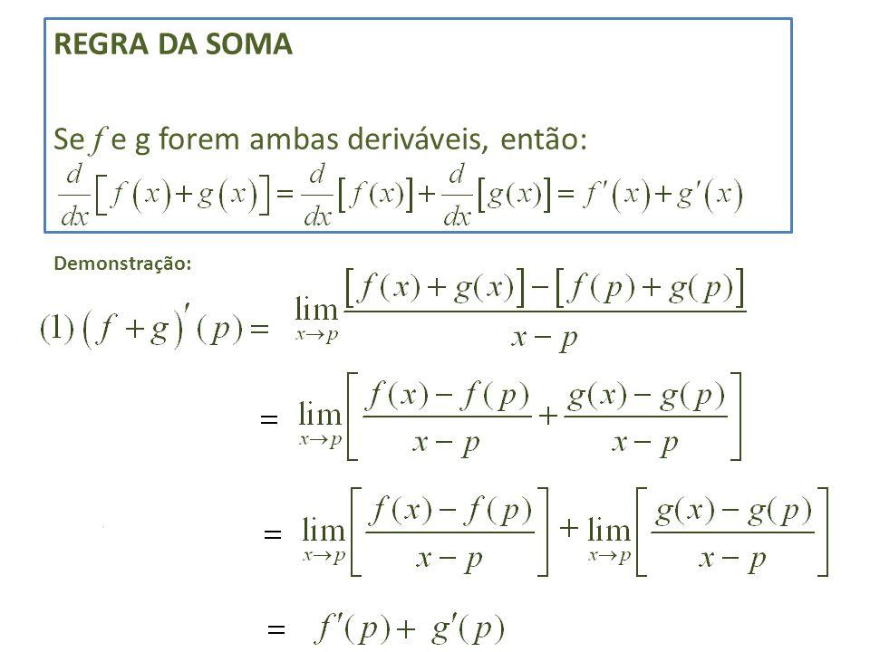 Se f e g forem ambas deriváveis, então: