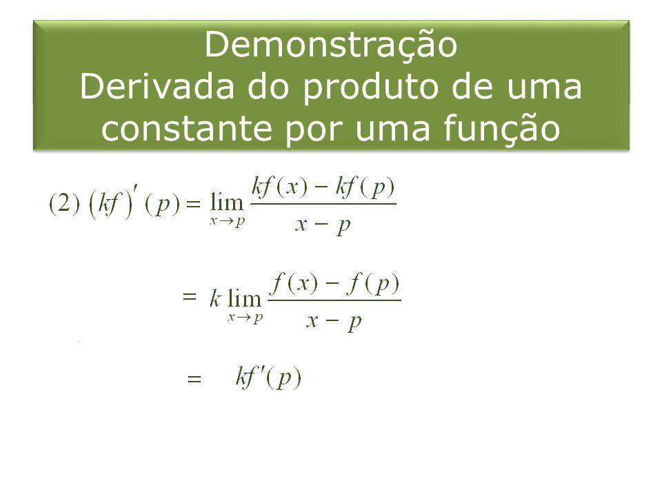 Derivada do produto de uma constante por uma função