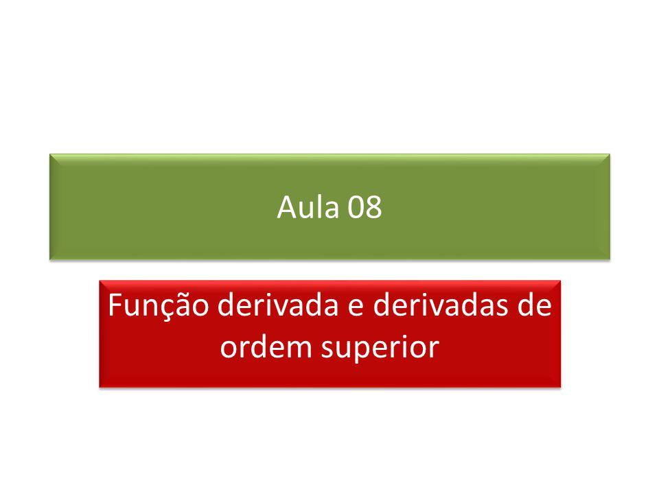 Função derivada e derivadas de ordem superior