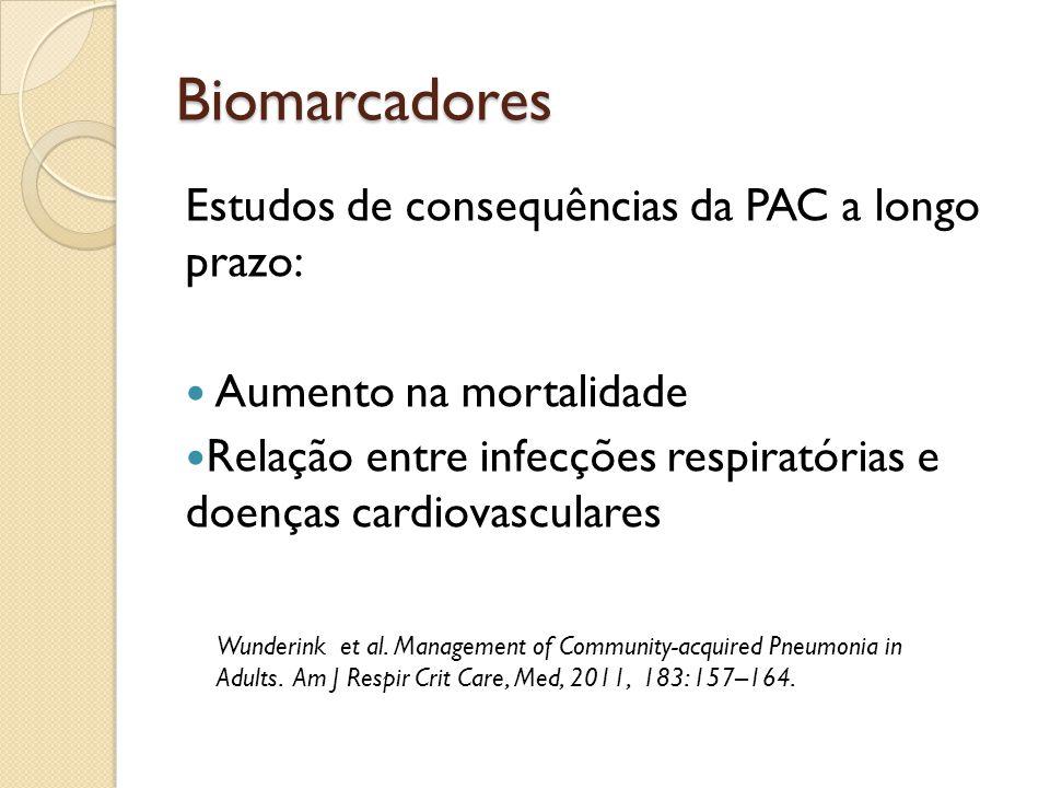 Biomarcadores Estudos de consequências da PAC a longo prazo: