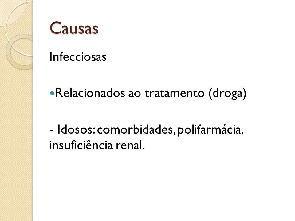 Causas Infecciosas Relacionados ao tratamento (droga)