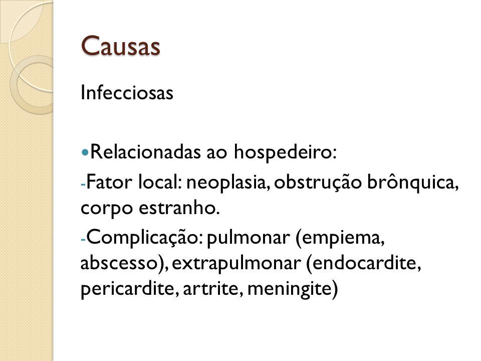 Causas Infecciosas Relacionadas ao hospedeiro: