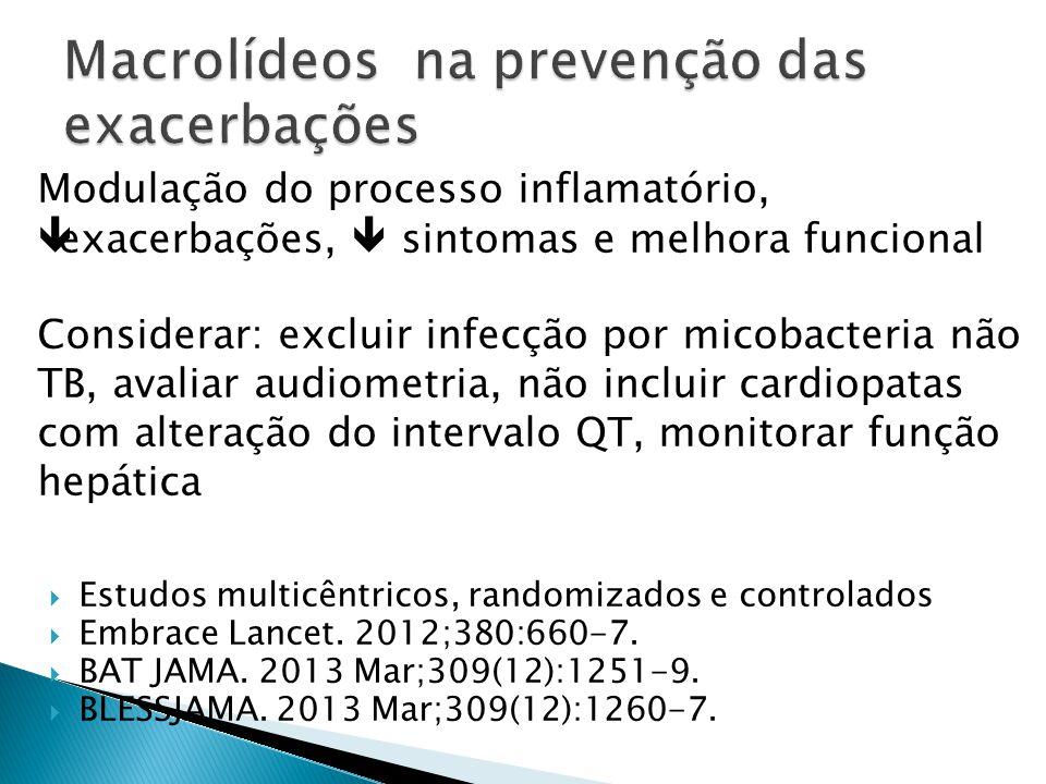 Macrolídeos na prevenção das exacerbações