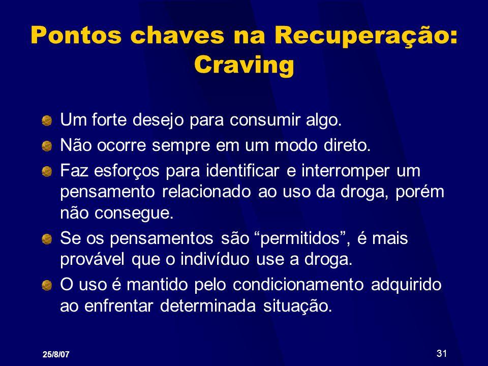 Pontos chaves na Recuperação: Craving