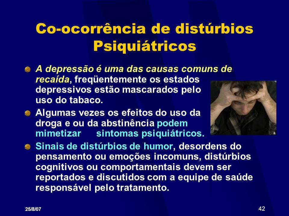 Co-ocorrência de distúrbios Psiquiátricos