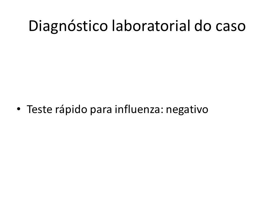 Diagnóstico laboratorial do caso