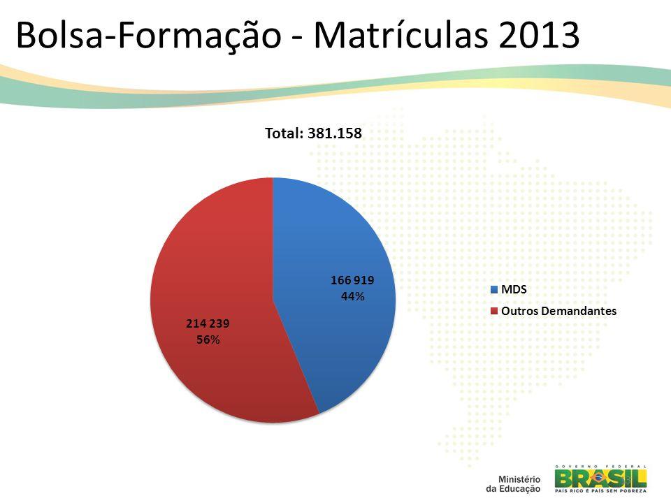 Bolsa-Formação - Matrículas 2013