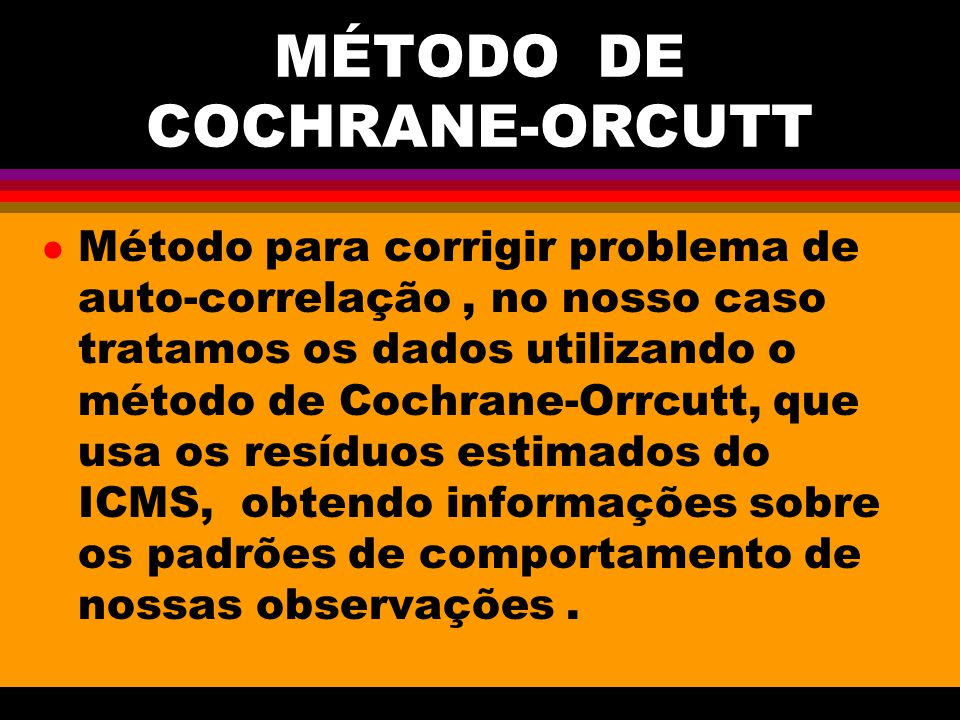 MÉTODO DE COCHRANE-ORCUTT