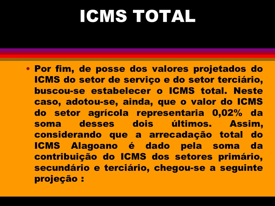 ICMS TOTAL