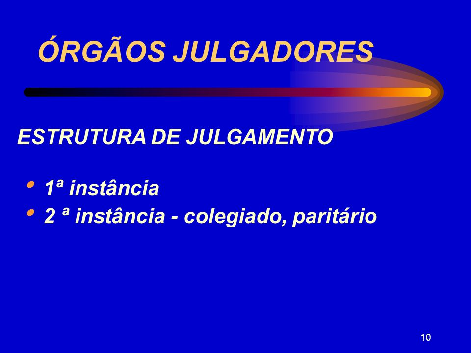 ÓRGÃOS JULGADORES ESTRUTURA DE JULGAMENTO  1ª instância