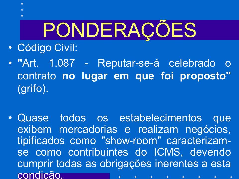 PONDERAÇÕES Código Civil: