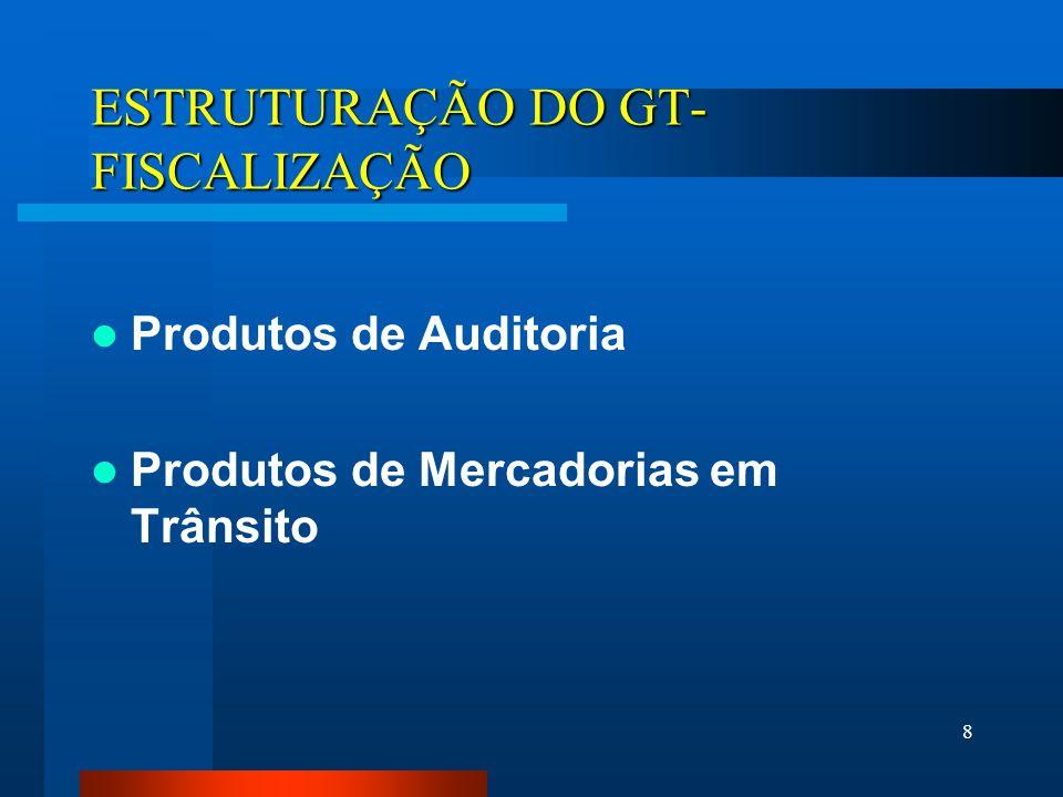 ESTRUTURAÇÃO DO GT-FISCALIZAÇÃO