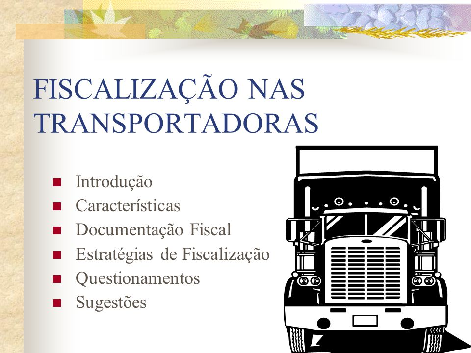 FISCALIZAÇÃO NAS TRANSPORTADORAS