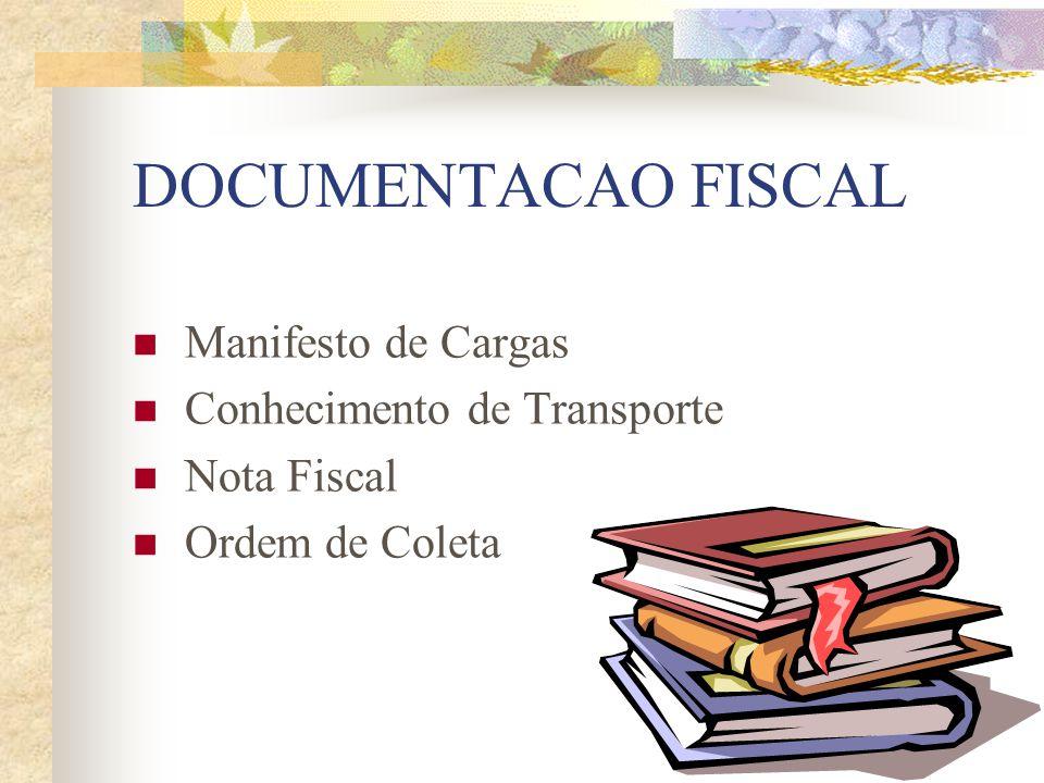 DOCUMENTACAO FISCAL Manifesto de Cargas Conhecimento de Transporte