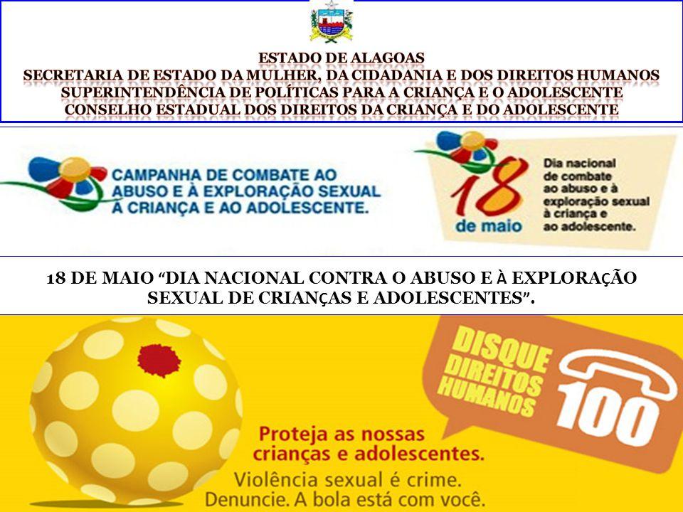 Estado de Alagoas Secretaria de Estado da Mulher, da Cidadania e dos Direitos Humanos. Superintendência de Políticas para a Criança e o Adolescente.