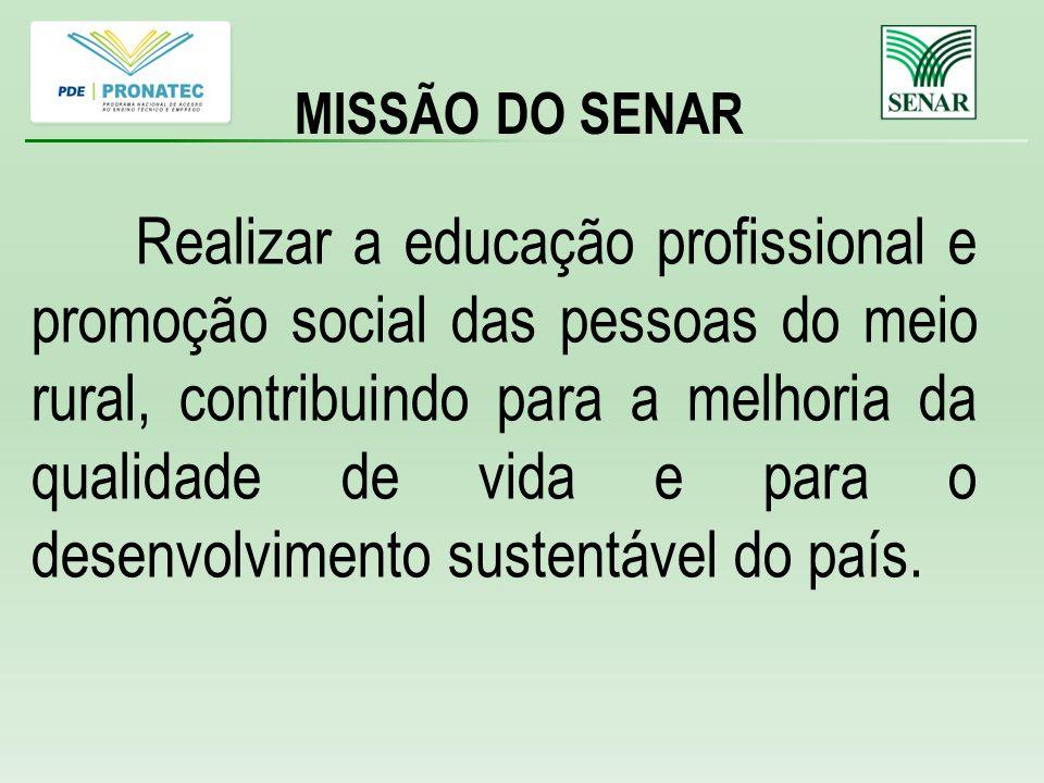 MISSÃO DO SENAR