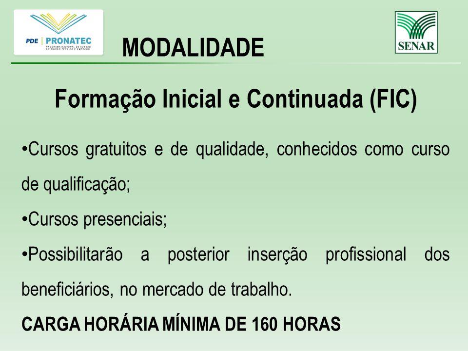 Formação Inicial e Continuada (FIC)