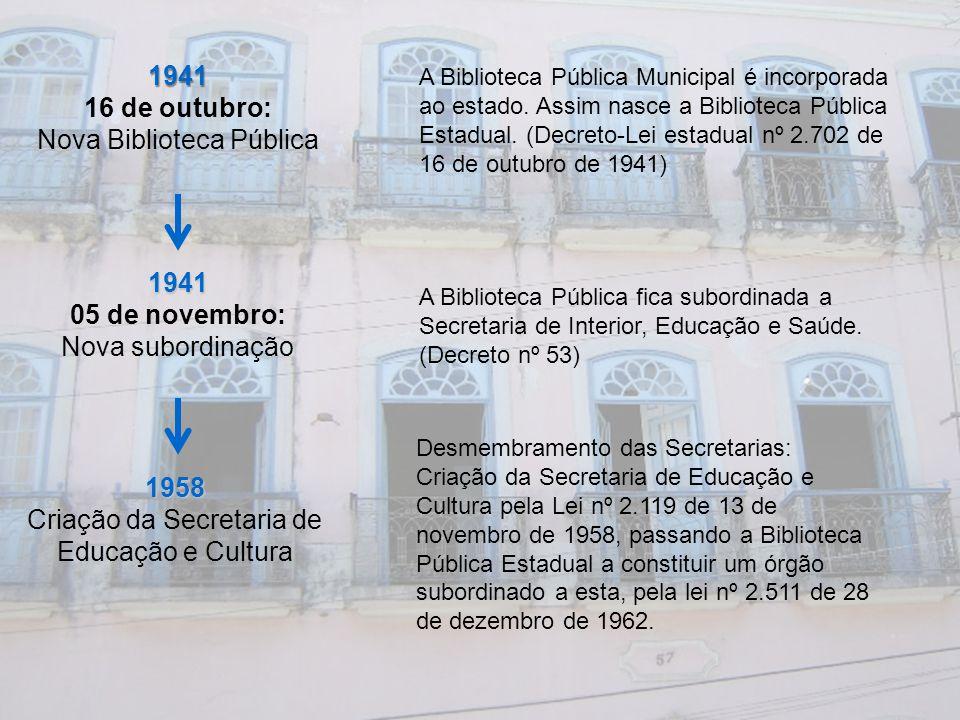 1941 16 de outubro: 1941 05 de novembro: 1958