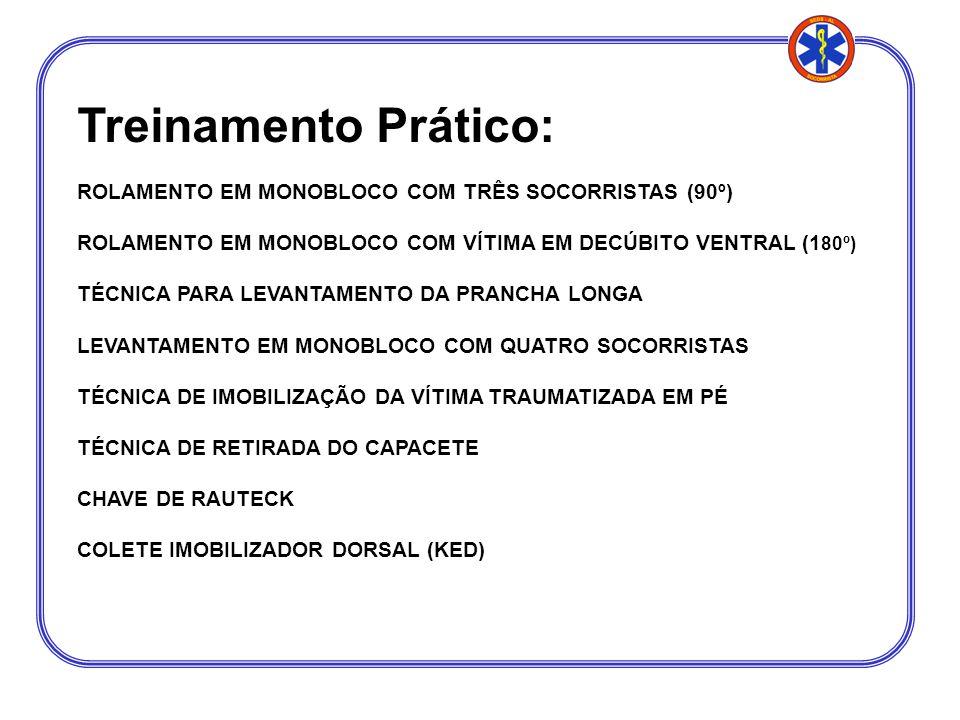 Treinamento Prático: ROLAMENTO EM MONOBLOCO COM TRÊS SOCORRISTAS (90º)