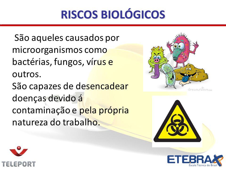 RISCOS BIOLÓGICOS São aqueles causados por