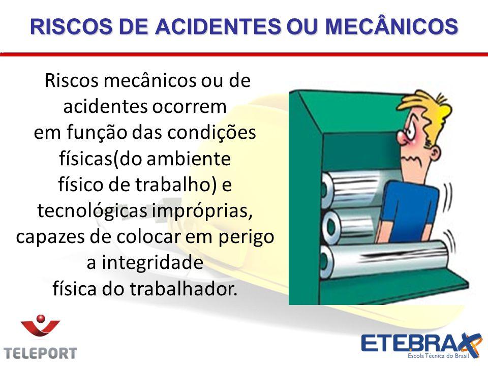 RISCOS DE ACIDENTES OU MECÂNICOS
