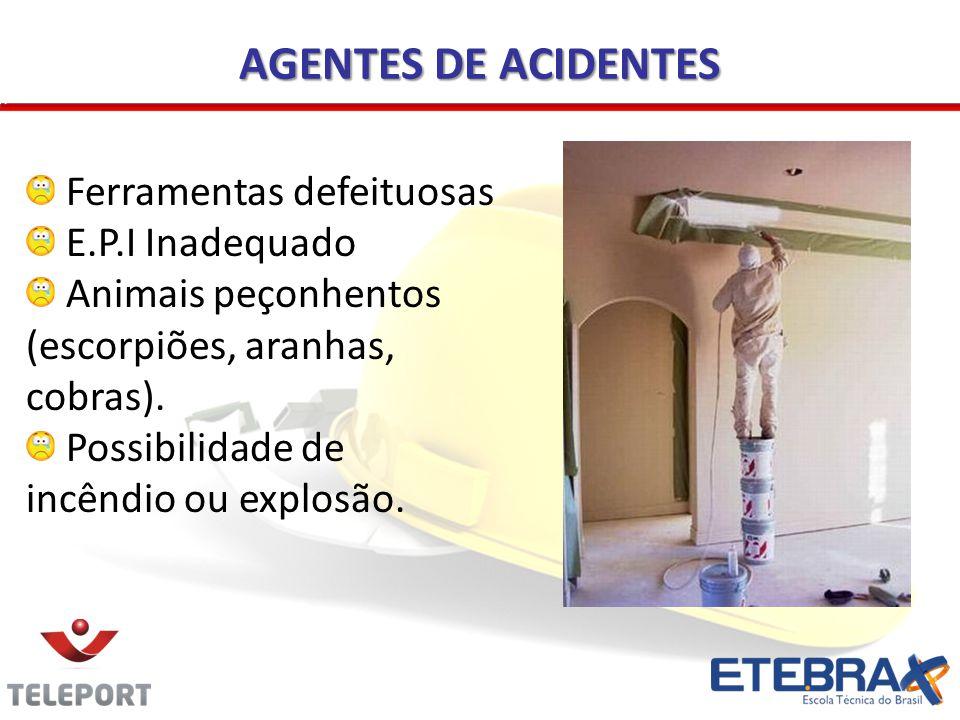 AGENTES DE ACIDENTES Ferramentas defeituosas E.P.I Inadequado