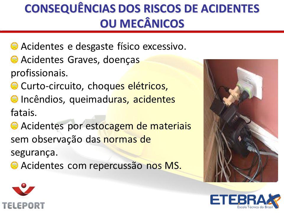 CONSEQUÊNCIAS DOS RISCOS DE ACIDENTES OU MECÂNICOS