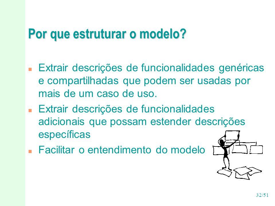 Por que estruturar o modelo