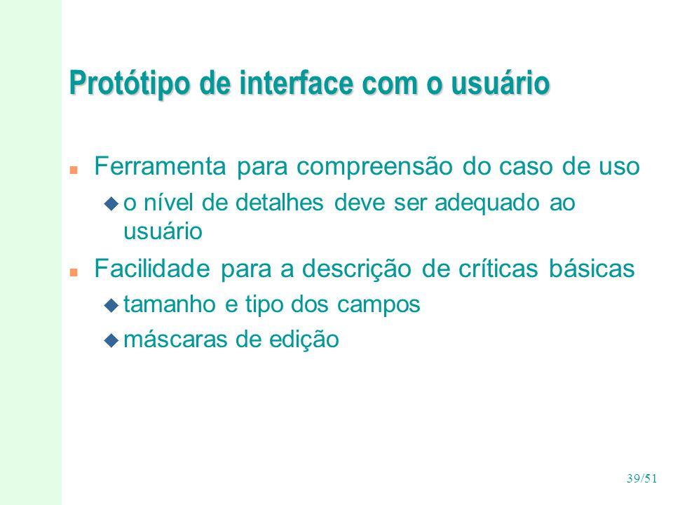 Protótipo de interface com o usuário