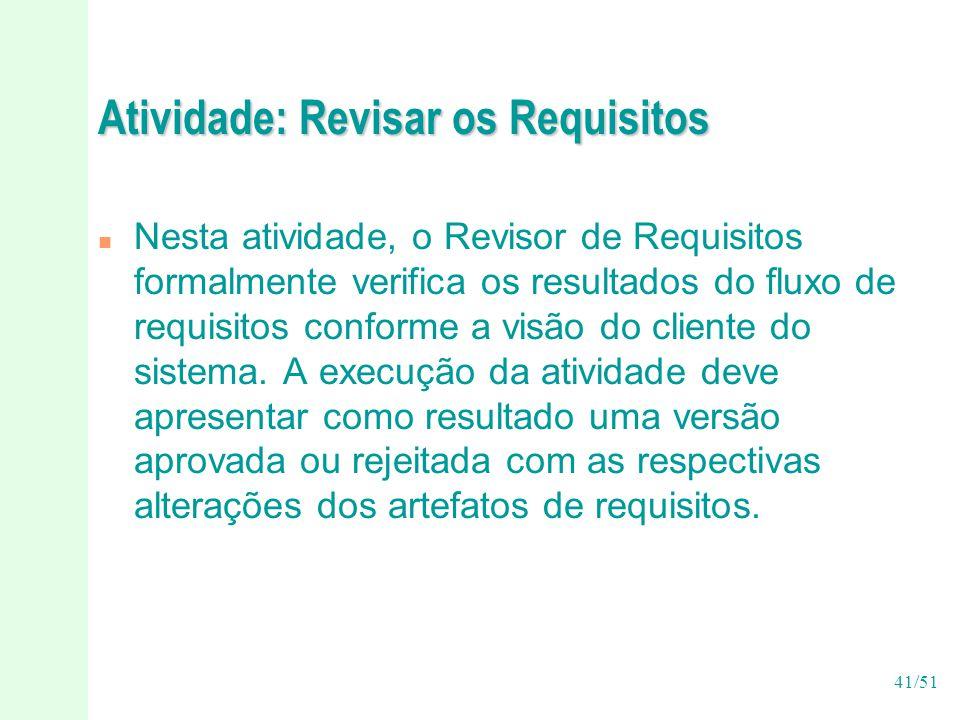 Atividade: Revisar os Requisitos