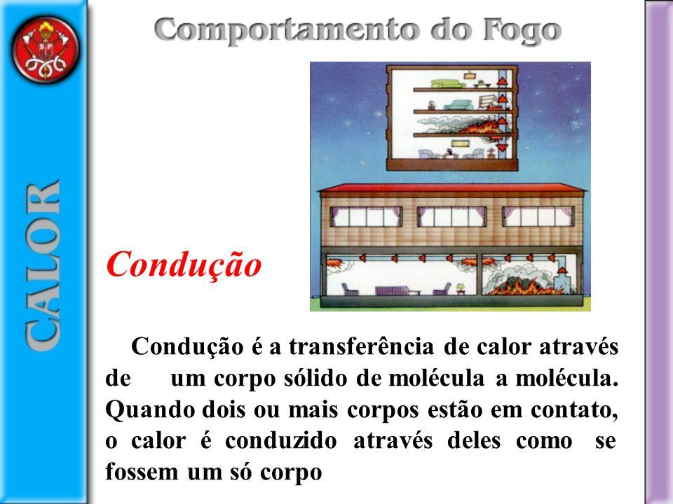 Condução Condução é a transferência de calor através de um corpo sólido de molécula a molécula.
