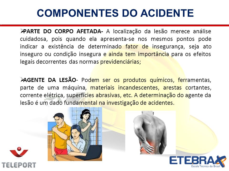 COMPONENTES DO ACIDENTE