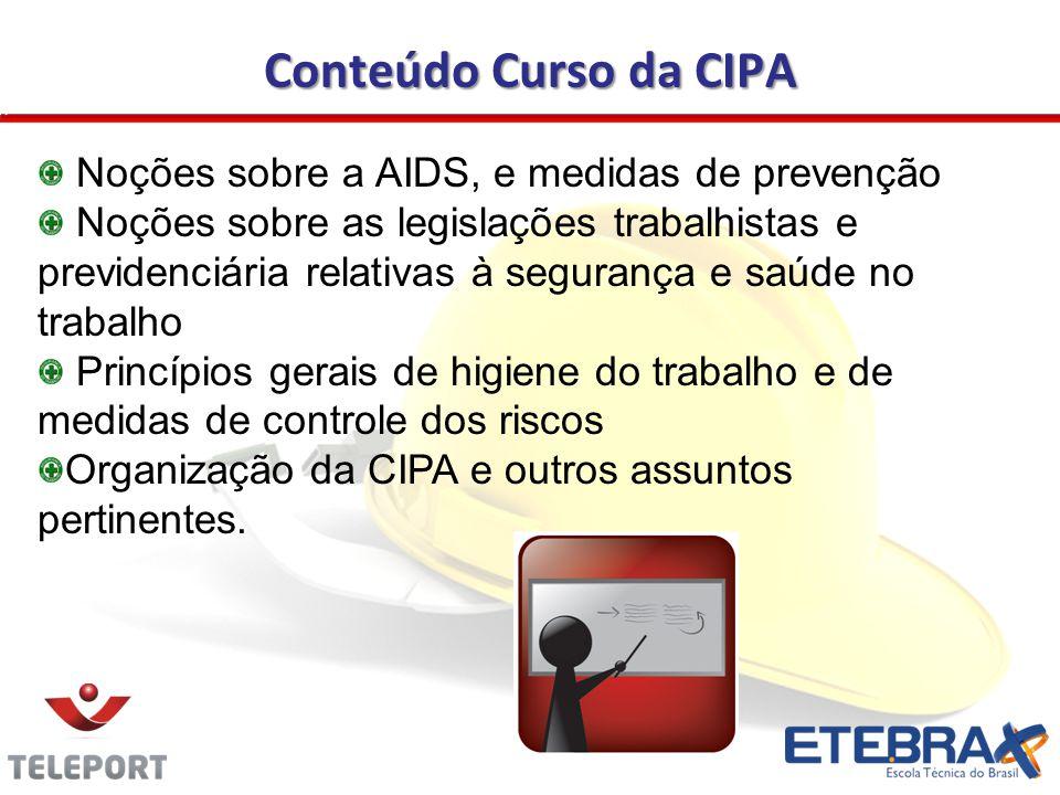 Conteúdo Curso da CIPA Noções sobre a AIDS, e medidas de prevenção