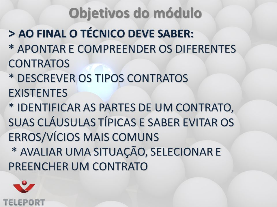 Objetivos do módulo