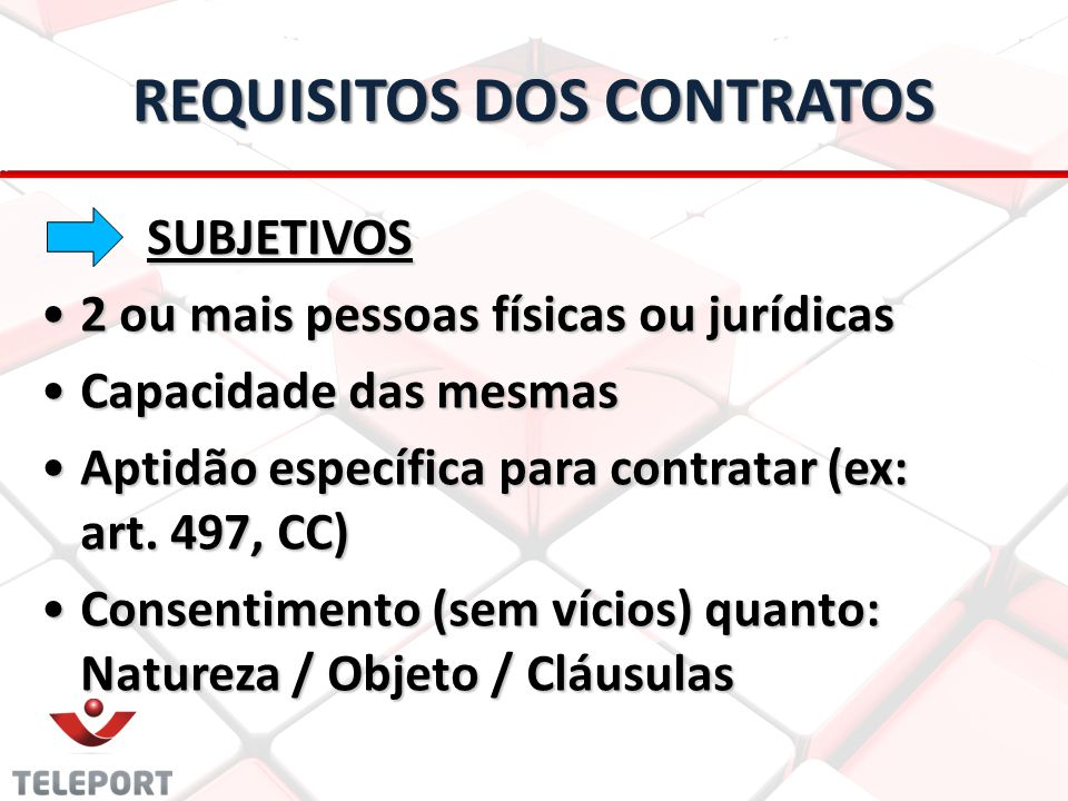 REQUISITOS DOS CONTRATOS