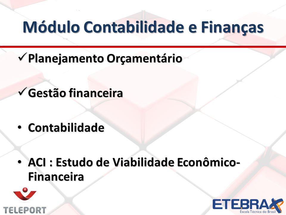 Módulo Contabilidade e Finanças