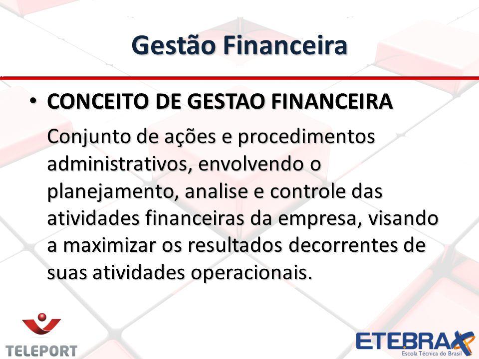 Gestão Financeira CONCEITO DE GESTAO FINANCEIRA