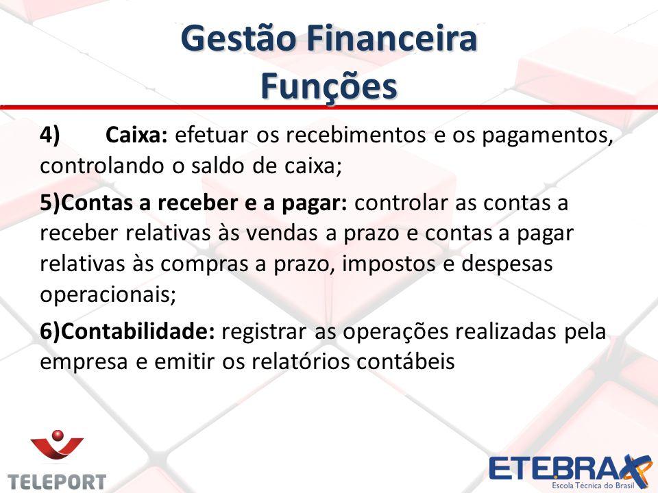 Gestão Financeira Funções