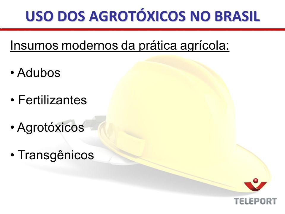 USO DOS AGROTÓXICOS NO BRASIL