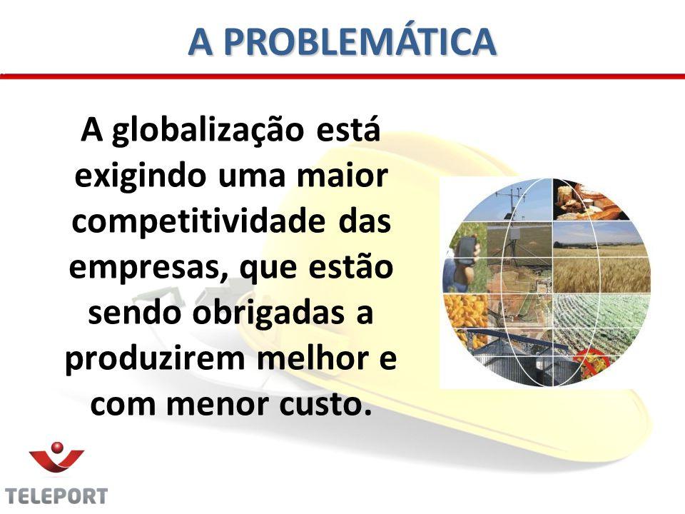 A PROBLEMÁTICA A globalização está exigindo uma maior competitividade das empresas, que estão sendo obrigadas a produzirem melhor e com menor custo.