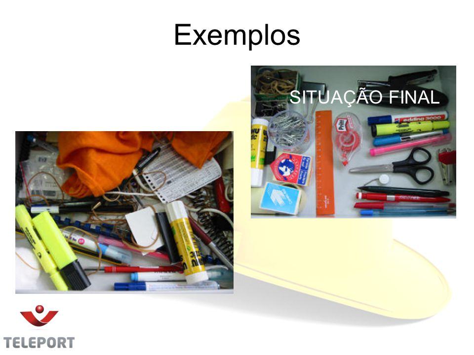 Exemplos SITUAÇÃO INICIAL SITUAÇÃO FINAL