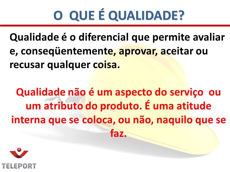 O QUE É QUALIDADE Qualidade é o diferencial que permite avaliar e, conseqüentemente, aprovar, aceitar ou recusar qualquer coisa.