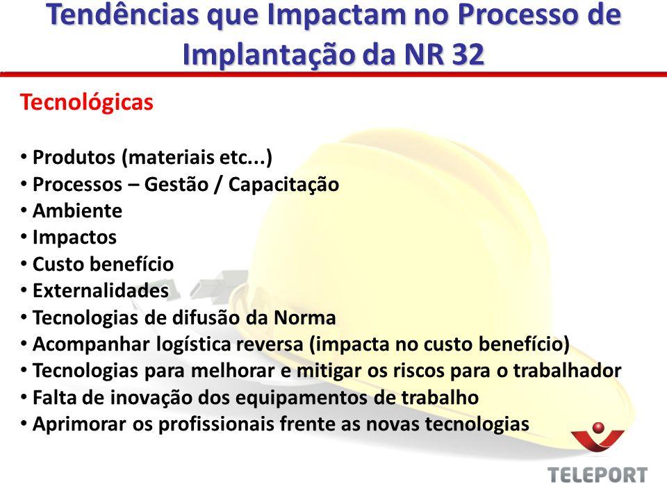 Tendências que Impactam no Processo de Implantação da NR 32
